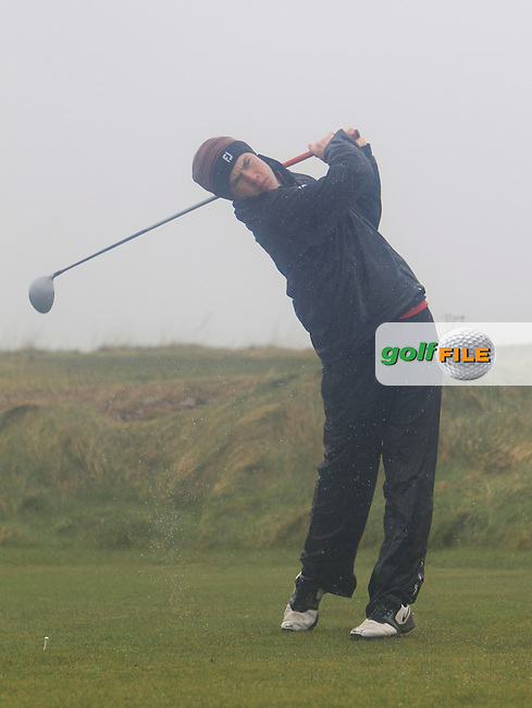 Louis O'Hara (Athenry) during the 18 hole stroke play qualifying on April 1st 2015 for the 2015 West of Ireland Open Championship, Co. Sligo, Golf Club, Rosses Point, Sligo, Ireland.<br /> Picture: Thos Caffrey / Golffile