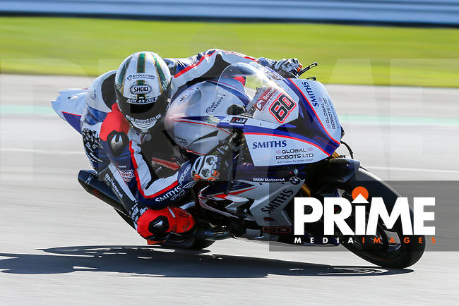 Peter Hickman (60) of the BSB Smiths Racing (BMW) race team during Free Practice 1 at Round 9 of the 2018 British Superbike Championship at Silverstone Circuit, Towcester, England on Friday 7 September 2018. Photo by David Horn.
