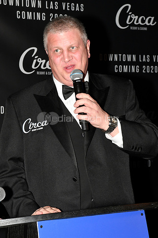 LAS VEGAS, NV - JANUARY 10:  Derek Stevens at the announcement of Circa Hotel & Casino set open in downtown Las Vegas December 2020 at the Downtown Las Vegas Events Center on January 10, 2019. Credit: Damairs Carter/MediaPunch