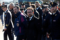 Matteo Salvini e Alfonso Bonafede<br /> Rome January 14th 2019. Cesare Battistii left-wing Italian militant who was convicted of murder three decades ago, arrived in Rome to serve a life prison sentence, after his life as a celebrity fugitive came to an abrupt end with his arrest in Bolivia by a team of Interpol agents.<br /> Foto Samantha Zucchi Insidefoto