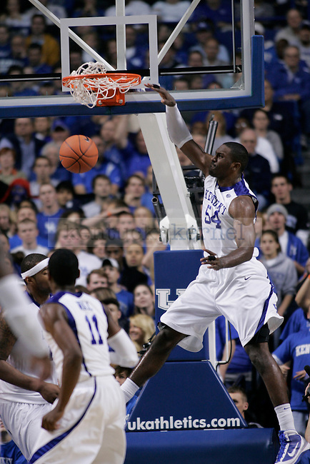 UK forward Patrick Patterson Men's dunks the ball against Sam Houston State at Rupp Arena on Thursday night. The Cats beat the Bearkats 102-92. Photo by Scott Hannigan | Staff
