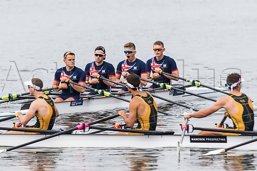 June 16th 2017; Poznan, Poland; 2017 World Rowing Cup II;  Samuel Mottram, Jamie Copus, Gavin Horsburgh, Edward Fisher (GBR) Mens Foursx