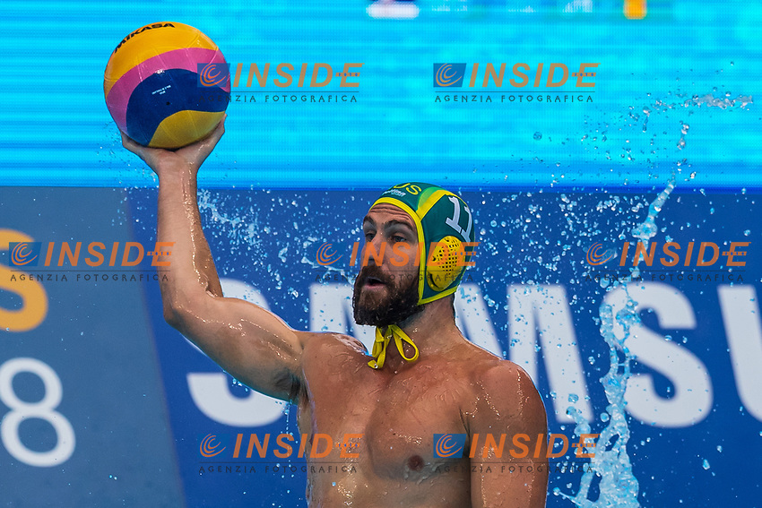 27-07-2019: WK waterpolo: Serbia v Australia: Gwangju<br /> #11 HOWDEN Rhys (AUS)<br /> Gwangju South Korea 27/07/2019<br /> Waterpolo M46 SRB - AUS<br /> 18th FINA World Aquatics Championships<br /> Nambu University Grounds <br /> Orange Pictures / Deepbluemedia / Insidefoto