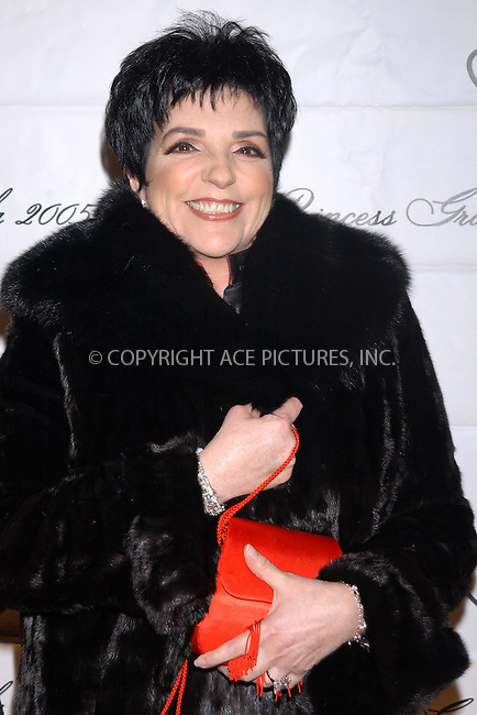 WWW.ACEPIXS.COM . . . . . ....NEW YORK, OCTOBER 26, 2005....Liza Minelli at the 2005 Princess Grace Awards held at Cipriani... ..Please byline: KRISTIN CALLAHAN - ACE PICTURES.. . . . . . ..Ace Pictures, Inc:  ..Craig Ashby (212) 243-8787..e-mail: picturedesk@acepixs.com..web: http://www.acepixs.com