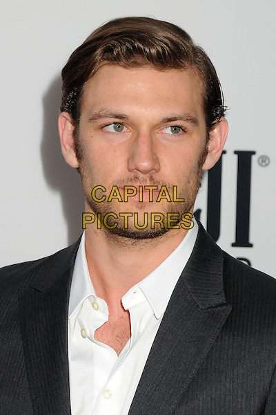 Alex Pettyfer<br /> &quot;Lee Daniels' The Butler&quot; Los Angeles Premiere held at Regal Cinemas L.A. Live, Los Angeles, California, USA.<br /> August 12th, 2013<br /> headshot portrait white shirt black suit jacket stubble facial hair <br /> CAP/ADM/BP<br /> &copy;Byron Purvis/AdMedia/Capital Pictures