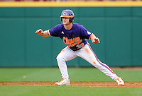 Outfielder Garrett Boulware (30) of the Clemson Tigers in a game against the South Carolina Gamecocks on March 3, 2012, at Carolina Stadium in Columbia, South Carolina. Carolina won, 9-6. (Tom Priddy/Four Seam Images)