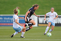 Washington Freedom forward Abby Wambach (20) gets fouled by Chicago Red Stars defender Nicole Krzysik (23)  Washington Freedom tied Chicago Red Stars 1-1  at The Maryland SoccerPlex, Saturday April 11, 2009.