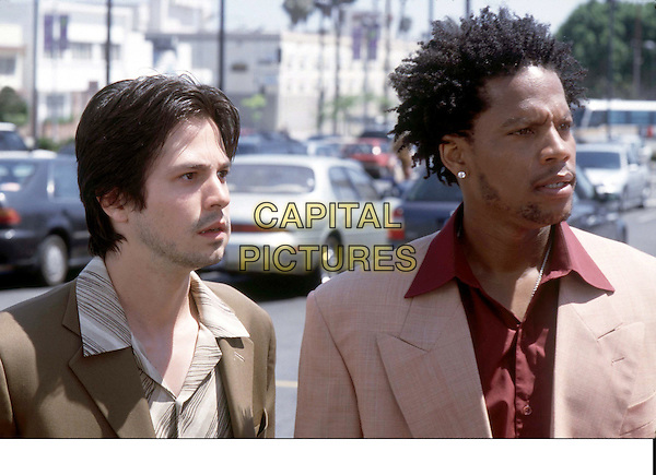 """CHASING PAPI"".Gangsters Victor (FREDDY RODRIGUEZ) and Rodrigo (D.L. HUGHLEY) are hot on the trail of three beautiful women who have inadvertently stolen from them...Filmstill - Editorial Use Only.Ref: FB.sales@capitalpictures.com.www.capitalpictures.com.Supplied by Capital Pictures."