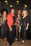 Rhonda Ross - Tamara Tunie - Amy Carlson with Deborah Koenigsberger - Founder & CEO of Hearts of Gold annual All That Glitters Gala - 24 years of support to New York City's homeless mothers and their children - (VIP Reception - Silent Auction) was held on November 7, 2018 at Noir et Blanc and the 40/40 Club in New York City, New York.  (Photo by Sue Coflin/Max Photo)