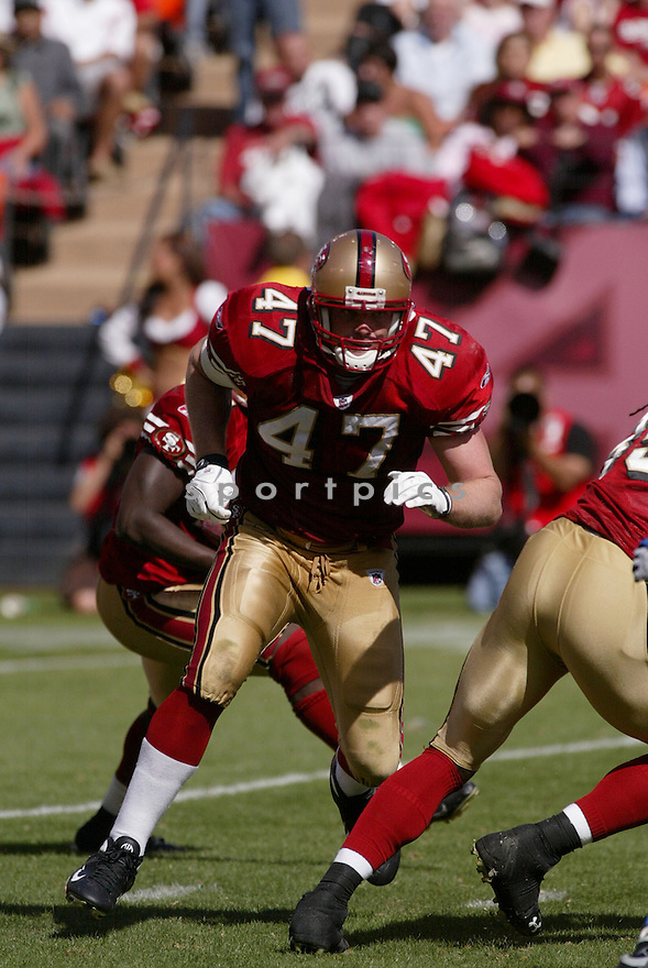 BILLY BAJEMA, of the San Francisco 49ers, in action during the  49ers game against the  Detroit Lions  on September 21, 2008 in San Francisco, California...The San Francisco 49ers win 31-13