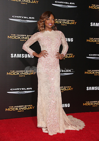 "Los Angeles, CA - November 16 Patina Miller Attending Premiere Of Lionsgate's ""The Hunger Games: Mockingjay - Part 2"" At Microsoft Theater On November 16, 2015. Photo Credit: Faye Sadou / MediaPunch"