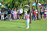 PATTAYA, THAILAND - FEBRUARY 22: Ariya Jutanugarn of Thailand 2nd shot on the 2nd during the second round of the Honda LPGA Thailand 2019 at Siam Country Club Pattaya (Old Course), Pattaya, Thailand on February 22, 2019.<br /> .<br /> .<br /> .<br /> (Photo by: Naratip Golf Srisupab/SEALs Sports Images)<br /> .<br /> Any image use must include a mandatory credit line adjacent to the content which should read: Naratip Golf Srisupab/SEALs Sports Images