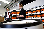 Pix: Shaun Flannery/sf-pictures.com..COPYRIGHT PICTURE>>SHAUN FLANNERY>01302-570814>>07778315553>>..3rd July 2009..........Business Link Yorkshire - Thorne Brewery, Unit A2, Thorne Enterprise Park, King Edward Road, Thorne, DN8 4HU..Brewery Chief Executive Mark Burton with MP Ed Miliband.