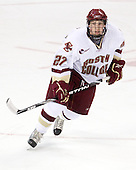 Patrick Alber (BC - 27) - The Boston College Eagles defeated the University of Massachusetts-Amherst Minutemen 5-2 on Saturday, March 13, 2010, at Conte Forum in Chestnut Hill, Massachusetts, to sweep their Hockey East Quarterfinals matchup.