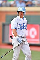 North Carolina Tar Heels catcher Cody Roberts (11) during a game against the Pittsburgh Panthers at Boshamer Stadium on March 17, 2018 in Chapel Hill, North Carolina. The Tar Heels defeated the Panthers 4-0. (Tony Farlow/Four Seam Images)
