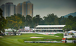 General view of the 18th hole during the day four of the UBS Hong Kong Open Championship at the Hong Kong Golf Club on 18 November 2012, in Fanling. Photo by Victor Fraile / The Power of Sport Images