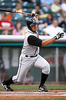 August 12, 2009: Patrick Arlis of the Nashville Sounds, Pacific Cost League Triple A affiliate of the Milwaukee Brewers, during a game at the Spring Mobile Ballpark in Salt Lake City, UT.  Photo by:  Matthew Sauk/Four Seam Images
