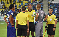 MONTERÍA - COLOMBIA ,13-07-2019:Leonard Mosquera Gómez ,referee central.Acción de juego entre los equipos  Jaguares de Córdoba y el Unión Magdalena durante partido por la fecha 1 de la Liga Águila II 2019 jugado en el estadio Municipal Jaraguay de Montería . / Central Referee Leonard Mosquera Gomez.Action game between teams Jaguares of Cordobaand  Union Magdalena  during the match for the date 1 of the Liga Aguila II 2019 played at Municipal Jaraguay Satdium in Monteria City . Photo: VizzorImage /Andrés Rios / Contribuidor.