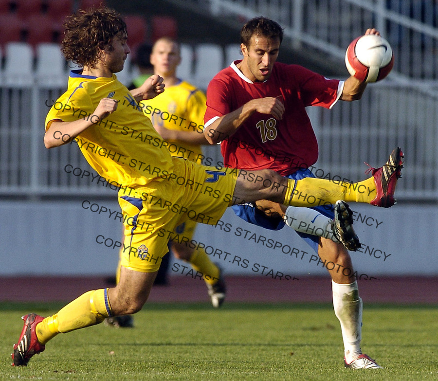 SPORT FUDBAL SRBIJA SVEDSKA REPREZENTACIJA SOCCER FOOTBALL U21 MLADI NOVI SAD Dragan Mrdja 6.10.2006. photo: Pedja Milosavljevic<br />