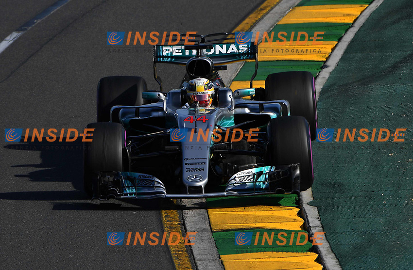 Lewis Hamilton (GBR) Mercedes-Benz F1 W08 Hybrid at Formula One World Championship, Rd1, Australian Grand Prix, Race, Albert Park, Melbourne, Australia, Sunday 26 March 2017.<br /> Foto Sutton/Panoramic/Insidefoto