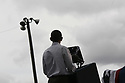 President Barack Obama speaks to an enthusiastic crowd during a Labor Day event in the shadow of the GM Renaissance Center in Detroit Mich., Monday, Sept. 5, 2011<br />