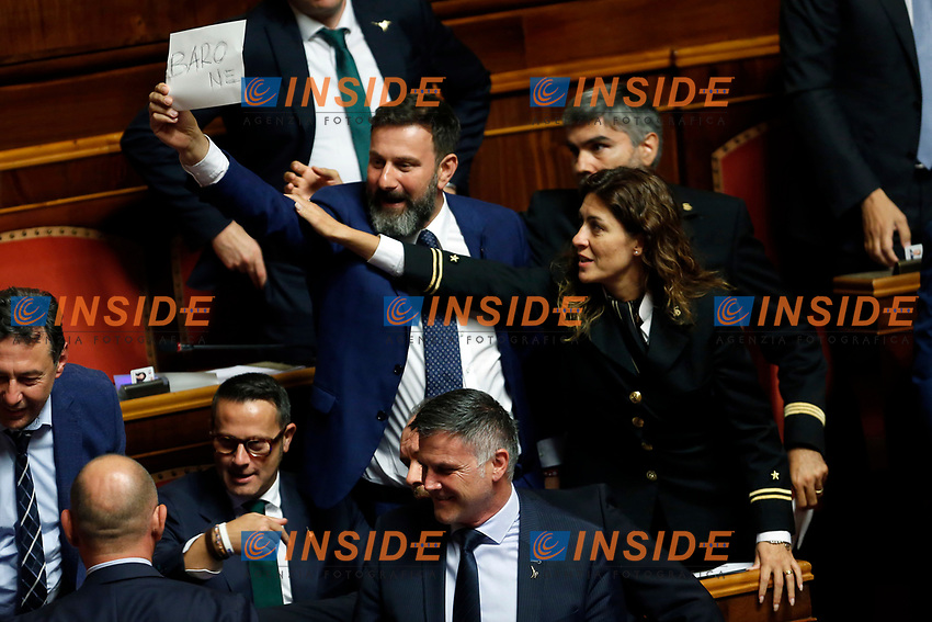Protest of Lega Nord Party<br /> Rome September 10th 2019. Senate. Discussion and Trust vote at the new Government. <br /> Foto  Samantha Zucchi Insidefoto