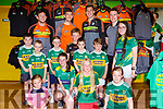 Kerry footballers Daithi Casey, Killian Young, David Moran and Mark Griffin with kerry fans at the Kerry GAA store on Saturday