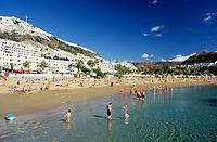 Spanien, Kanarische Inseln, Gran Canaria, Puerto Rico: Strand | Spain, Canary Islands, Gran Canaria, Puerto Rico: beach