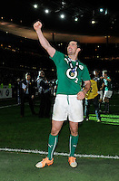 15th March 2014; Rob Kearney celebrates at the end of the match. RBS Six Nations, France v Ireland, Stade de France, St Denis, Paris. Picture credit: Tommy Grealy/actionshots.ie.