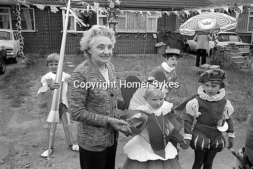 Silver Jubilee Street Party 1977 Barking east London. UK.  Fancy dress competition contestants.<br />