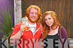 Joe and Megan Fahy from Tralee at the Hear The Noise Promotions launch showcase at the Greyhound Bar, Tralee on Friday.