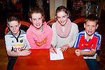 Good answer<br /> ------------------<br /> Kilcummin Community games quiz finalists were L-R Conn  Fleming,Liadain O'Connor,Bebhinn Brosnan&amp;Micheal Sweeney