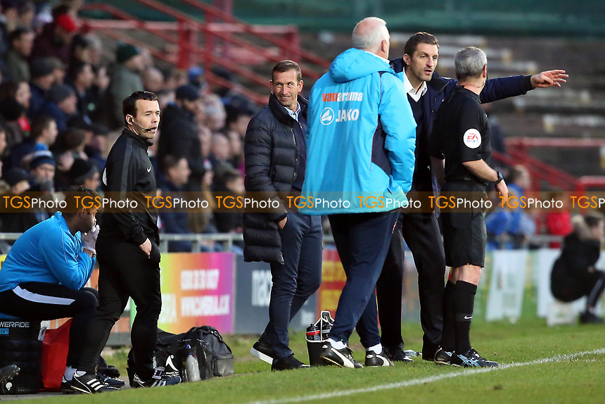 O's Justin Edinburgh during Wrexham vs Leyton Orient, Vanarama National League Football at the Racecourse Ground on 24th November 2018