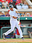 9 March 2012: Detroit Tigers infielder Hernan Perez in action during a Spring Training game against the Philadelphia Phillies at Joker Marchant Stadium in Lakeland, Florida. The Phillies defeated the Tigers 7-5 in Grapefruit League action. Mandatory Credit: Ed Wolfstein Photo