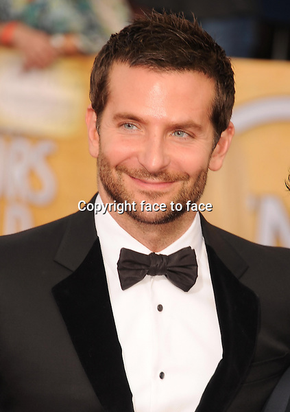 LOS ANGELES, CA- JANUARY 18: Actor Bradley Cooper arrives at the 20th Annual Screen Actors Guild Awards at The Shrine Auditorium on January 18, 2014 in Los Angeles, California.<br />