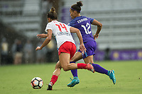 Orlando, FL - Saturday July 01, 2017: Sarah Gorden, Kristen Edmonds during a regular season National Women's Soccer League (NWSL) match between the Orlando Pride and the Chicago Red Stars at Orlando City Stadium.