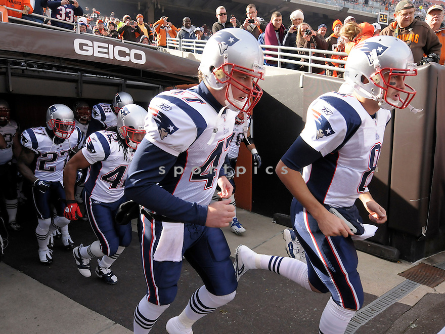 JAKE INGRAM, of the New England Patriots, in action during the Patriots game against the Cleveland Browns on November 7, 2010 at Cleveland Browns Stadium in Cleveland, Ohio.  ..The Browns beat the Patriots 34-14...