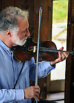 Close up of  Bob Stern (Violin) as he performed with Gil Gutierrez (Guitar at Opus 40, in Saugerties, NY, on May 9, 2015. Photo by Jim Peppler. Copyright Jim Peppler 2015.