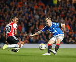 19.09.2019 Rangers v Feyenoord: Scott Arfield with a great chance