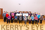 On Friday afternoon Lyreacrompane Development Association handed over two cheques of €800 each, to Enable Ireland Kerry Services and Adapt Women's Refuge, raised from Christmas hampers raffle.
