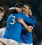 Bilel Mohsni congratulated by Lee McCulloch