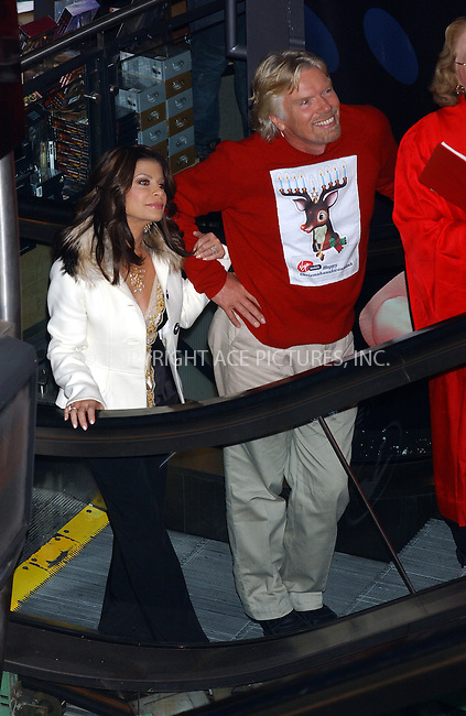 WWW.ACEPIXS.COM . . . . . ....NEW YORK, NOVEMBER 30, 2005....Sir Richard Branson is joined by Paula Abdul at the Kick Off of the 2005 Chrismahanukwanzakah Holiday in Times Square.....Please byline: KRISTIN CALLAHAN - ACEPIXS.COM.. . . . . . ..Ace Pictures, Inc:  ..Philip Vaughan (212) 243-8787 or (646) 679 0430..e-mail: info@acepixs.com..web: http://www.acepixs.com