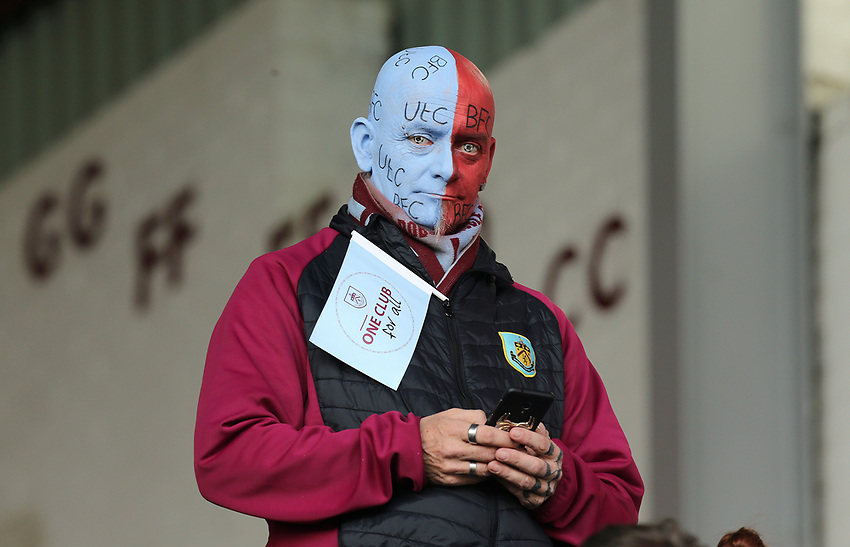 Burnley fans soak up the pre-match atmosphere<br /> <br /> Photographer Rich Linley/CameraSport<br /> <br /> The Premier League - Burnley v Wolverhampton Wanderers - Saturday 30th March 2019 - Turf Moor - Burnley<br /> <br /> World Copyright © 2019 CameraSport. All rights reserved. 43 Linden Ave. Countesthorpe. Leicester. England. LE8 5PG - Tel: +44 (0) 116 277 4147 - admin@camerasport.com - www.camerasport.com