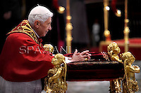 Consistory Pope Benedict XVI the where appoint 6 new cardinals on November 24, 2012