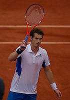 Andy Murray (GBR) (4) against Juan Ignacio Chela (ARG) in the seocnd round of the men's singles. Andy Murray beat Juan Ignacio Chela 6-3 6-7 6-3 6-2..Tennis - French Open - Day 5 - Thur 27 May 2010 - Roland Garros - Paris - France..© FREY - AMN Images, 1st Floor, Barry House, 20-22 Worple Road, London. SW19 4DH - Tel: +44 (0) 208 947 0117 - contact@advantagemedianet.com - www.photoshelter.com/c/amnimages