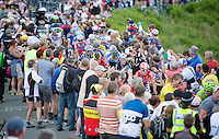 Greg Henderson (NZL/Lotto-Belisol) sheered up Holme Moss Hill (521m/4.7km/7%)<br /> <br /> 2014 Tour de France<br /> stage 2: York-Sheffield (201km)