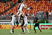3rd February 2019, Spotless Stadium, Sydney, Australia; HSBC Sydney Rugby Sevens; New Zealand versus USA; Mens Final; Martin Iosefou of the United States of America wins a lineout