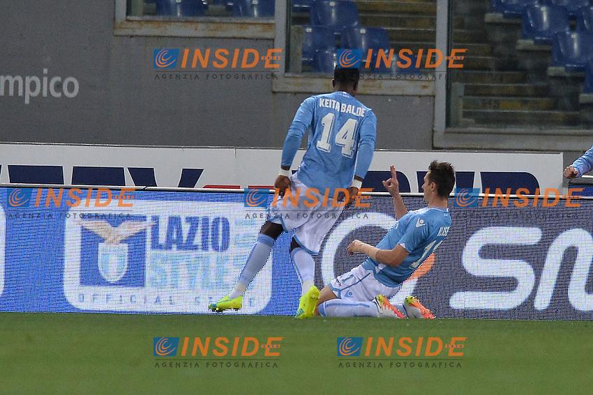Esultanza dopo il Gol di Miroslav Klose Lazio. Goal celebration.<br /> Roma 1-05-2016  Stadio Olimpico<br /> Campionato Serie A,<br /> Lazio - Inter.<br /> Foto Antonietta Baldassarre / Insidefoto