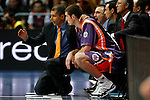 Power Electronics Valencia's coach Manuel Hussein and Nando De Colo during ACB Supercup Semifinal match.September 24,2010. (ALTERPHOTOS/Acero)