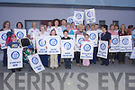 Strike: Protest at the opening of the new Oncology Ward at Kerry General Hospital on Friday afternoon..